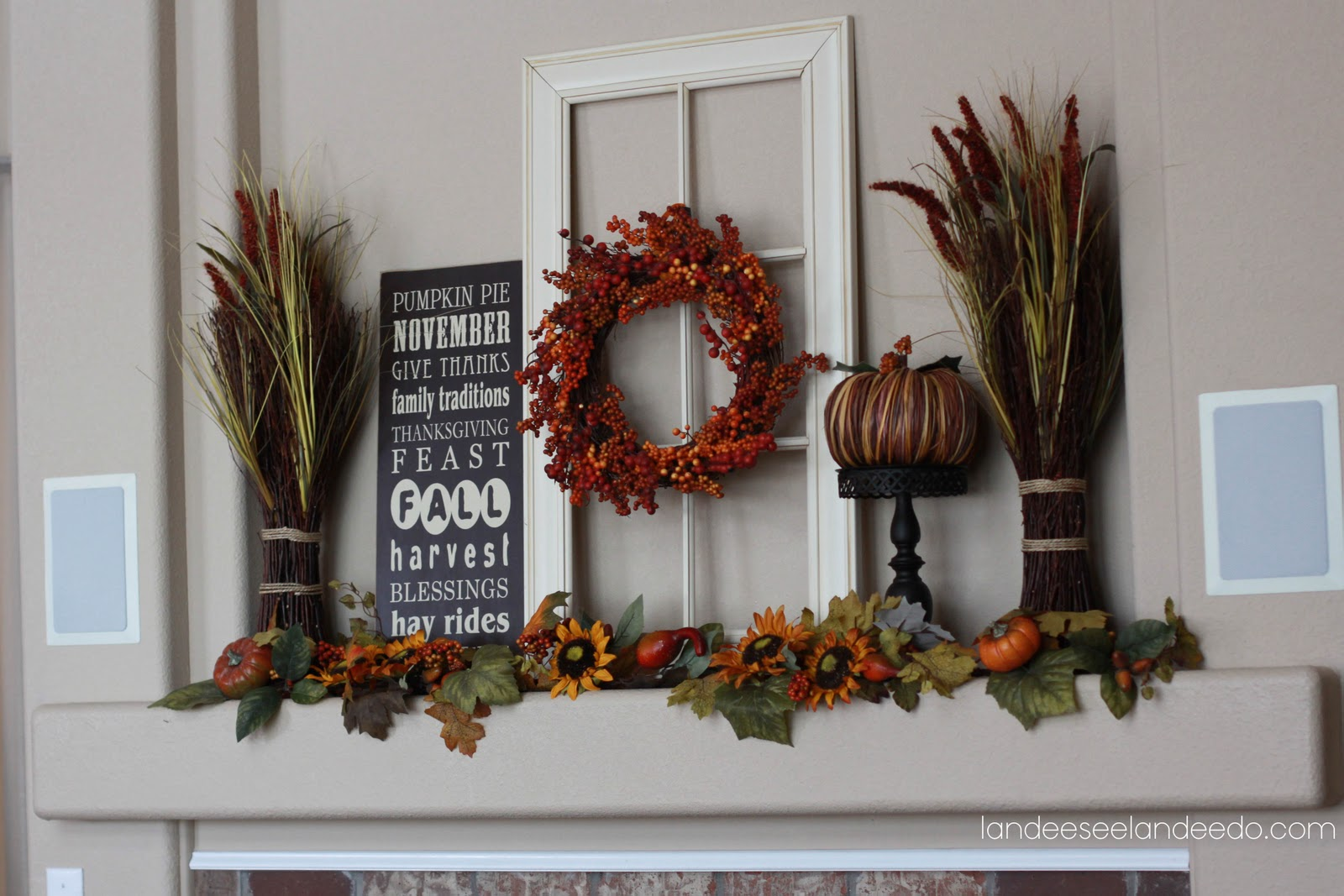 landees fall+mantel+decorations